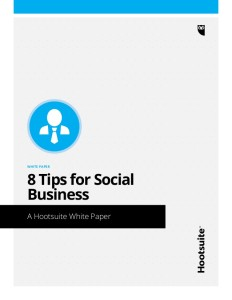 Hootsuite 8 Tips for Social Business Title Page