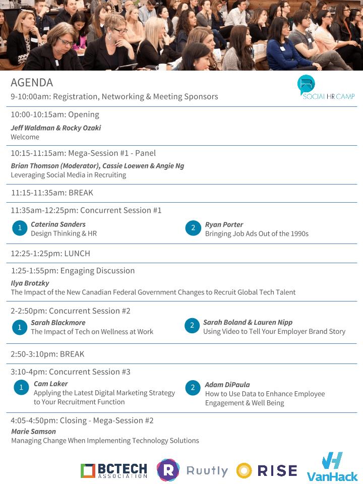SocialHRCamp Vancouver Agenda Version 1