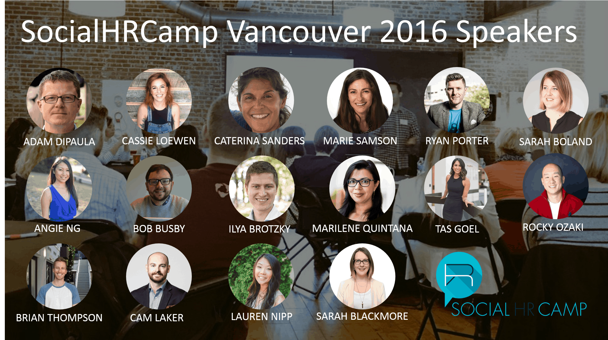 SocialHRCamp Vancouver 2016 Speakers SHRC16